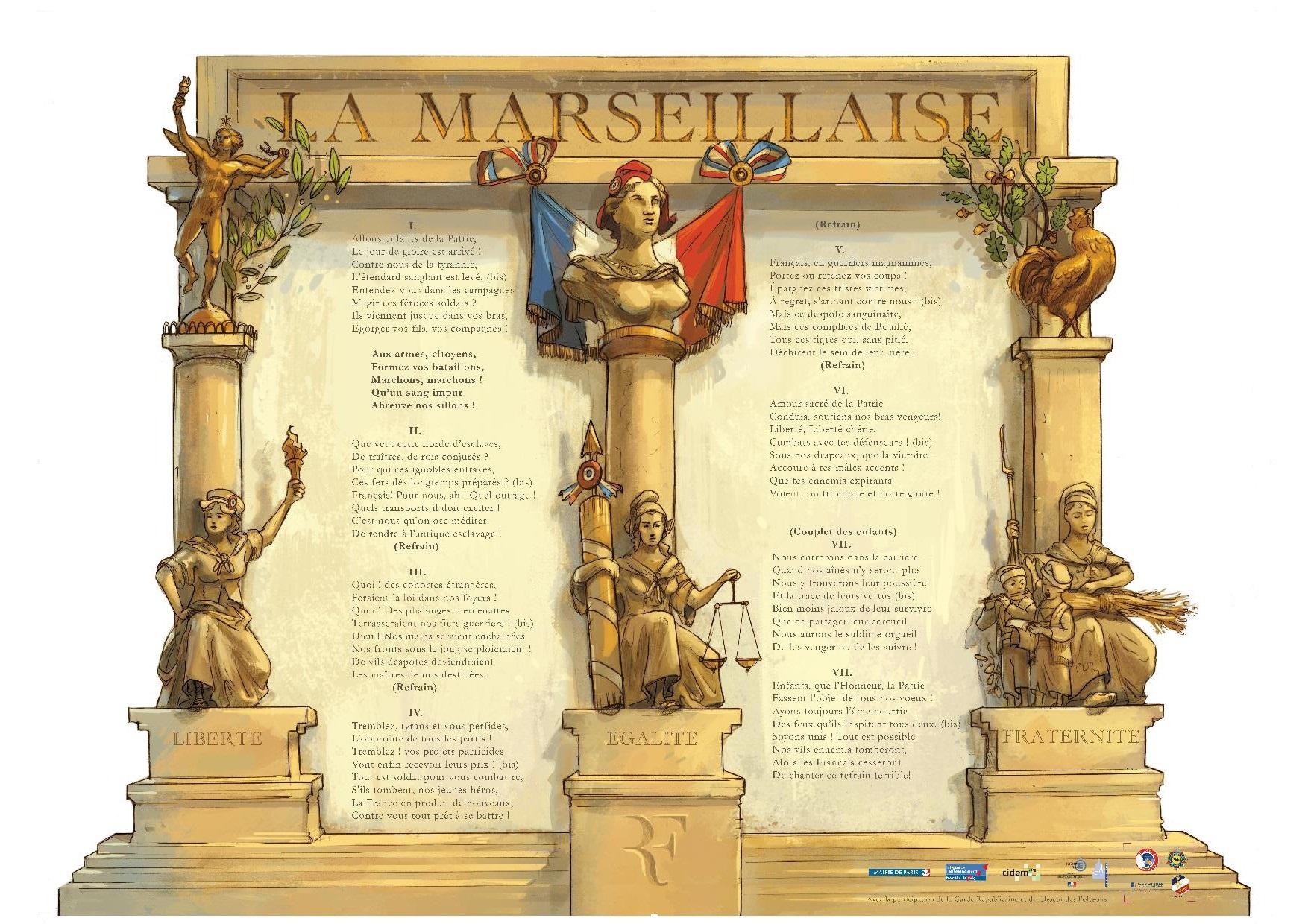 affiche paroles-marseillaise